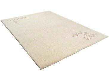 THEKO Wollteppich Hadj 225, rechteckig, 25 mm Höhe, echter Berber, reine Wolle, Wohnzimmer 200x250 cm, weiß Schlafzimmerteppiche Teppiche nach Räumen