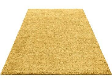 Bruno Banani Hochflor-Läufer Shaggy Soft, rechteckig, 30 mm Höhe, gewebt 11, 67x230 cm, goldfarben Moderne Teppiche Unisex