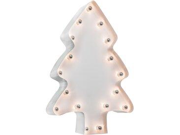 MARQUEE LIGHTS LED Dekolicht Weihnachtsbaum, E14, 1 St., Warmweiß, Wandlampe, Tischlampe Xmas-Tree mit 17 festverbauten LEDs - 82cm Breit und 122cm hoch flg., Höhe: 122 cm, St. weiß Dekoleuchten Lampen Leuchten