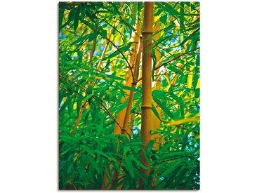 Artland Wandbild Bambus IV 90x120 cm, Leinwandbild grün Leinwandbilder Bilder Bilderrahmen Wohnaccessoires