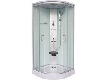 Sanotechnik Komplettdusche Rumba, mit Sitz Einheitsgröße silberfarben Duschkabinen Duschen Bad Sanitär