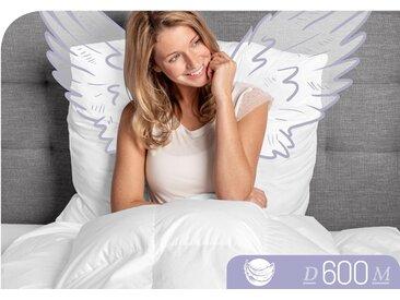 Schlafstil Gänsedaunenbettdecke D600, leicht, Füllung 100% Gänsedaunen, Bezug Baumwolle, (1 St.), hergestellt in Deutschland, allergikerfreundlich B/L: 200 cm x cm, leicht weiß Allergiker Bettdecke Bettdecken Bettdecken, Kopfkissen Unterbetten