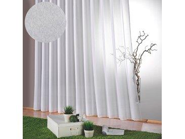 Weckbrodt Gardine Lena 24, H/B: 225/1200 cm, halbtransparent, Faltenband weiß Wohnzimmergardinen Gardinen nach Räumen Vorhänge