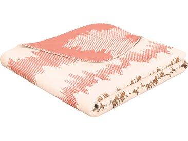 BIEDERLACK Wohndecke Cardio, mit Muster B/L: 150 cm x 200 rosa Baumwolldecken Decken