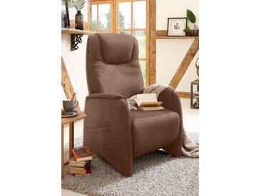 Home affaire TV-Sessel Mamba Luxus-Microfaser mit Druck, manuell verstellbar, M: Sitzhöhe/-tiefe: 47/53 cm braun Fernsehsessel und Sessel