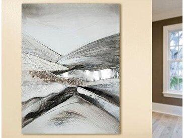 GILDE Leinwandbild Landscape 12x120 cm grau Leinwandbilder Bilder Bilderrahmen Wohnaccessoires