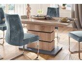 Homexperts Säulen-Esstisch Bonnie, mit Auszug (140-190 cm) T: 90 cm beige Säulentische Esstische Tische