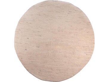 THEKO Wollteppich Taza Royal, rund, 24 mm Höhe, echter Berber, reine Schurwolle, handgeknüpft, Wohnzimmer 9 (Ø 150 cm), beige Schlafzimmerteppiche Teppiche nach Räumen