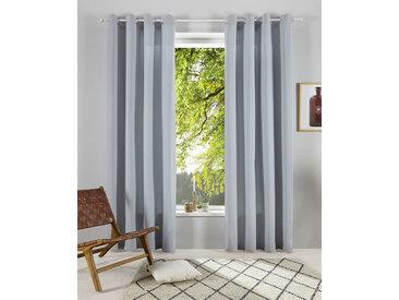 OTTO products Gardine Lasse 145 cm, Ösen, 140 cm grau Blickdichte Vorhänge Gardinen
