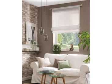 Neutex for you Raffrollo Allure, mit Klettschiene, in Führungsschienen 140 cm, 80 cm weiß Halbtransparente Gardinen Vorhänge