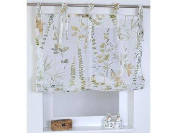 Kutti Raffrollo Jungle, mit Bindebänder, freihängend, Bindebändern 140 cm, einseitig verschiebbar, 45 cm weiß Wohnzimmergardinen Gardinen nach Räumen Vorhänge