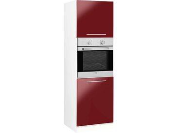 wiho Küchen Backofenumbauschrank Flexi2 B/H/T: 60 cm x 200 57 rot Umbauschränke Küchenschränke Küchenmöbel