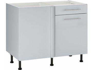 wiho Küchen Eckunterschrank Ela Einheitsgröße grau Unterschränke Küchenschränke Küchenmöbel Schränke