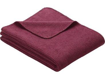 Wohndecke Rake, IBENA 150x200 cm, Baumwolle-Kunstfaser lila Baumwolldecken Decken Wohndecken