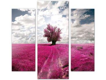 Wall-Art Mehrteilige Bilder Magischer Baum pink (3-teilig), (Set, 3 St.) B/H/T: 40 cm-50 cm x 100 cm-120 0,4 bunt Bilderrahmen Wohnaccessoires
