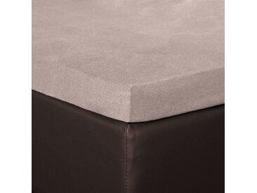 BETTWARENSHOP Spannbettlaken Topper Spannbetttuch, elastisch mit guter Passform B/L: 140-160 cm x 200-220 (1 St.) grau Bettlaken Betttücher Bettwäsche, und