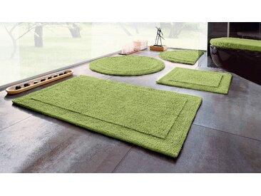 Badematte Kapra, Home affaire, Höhe 10 mm, beidseitig nutzbar 10, 2-tlg. Hänge-WC Set, mm grün Badematten Nachhaltige Heimtextilien