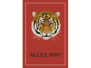 queence Leinwandbild Tiger ALLEZ HOP 80x120 cm braun Leinwandbilder Bilder Bilderrahmen Wohnaccessoires