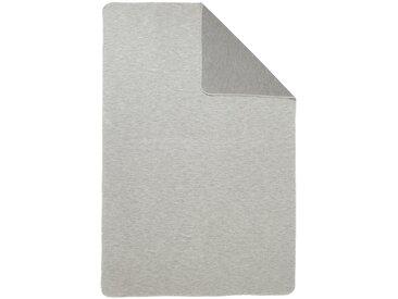 Ibena Wohndecke 3 70x100 cm, Knieplaid grau Baumwolldecken Decken