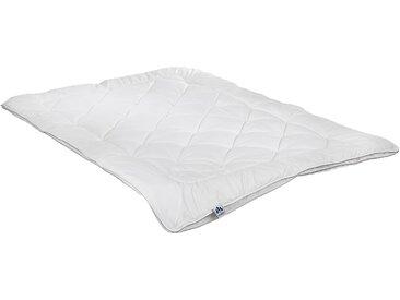Naturhaarbettdecke, Waschwolle, Irisette, Bezug: 100% Baumwolle weiß, 200x200 cm weiß Allergiker Bettdecke Bettdecken Bettdecken, Kopfkissen Unterbetten