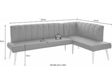 exxpo - sofa fashion Eckbank Costa, Frei im Raum stellbar B/H/T: 157 cm x 92 245 cm, Kunstleder SOFTLUX®, Ottomane rechts, langer Schenkel links braun Sitzbänke Nachhaltige Möbel