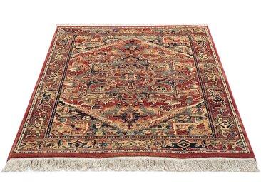 Wollteppich, Saharna 2886, THEKO, rechteckig, Höhe 10 mm, maschinell gewebt 6, 200x300 cm, mm rot Fransenteppiche Teppiche