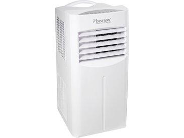 bestron Klimagerät mobiles Gerät, für Räume bis 36m², Kühlleistung 2,6 kW mit umweltfreundlichem Kühlmittel, 9.000BTU/h, Farbe: weiß Einheitsgröße Klimageräte, Ventilatoren Wetterstationen SOFORT LIEFERBARE Haushaltsgeräte
