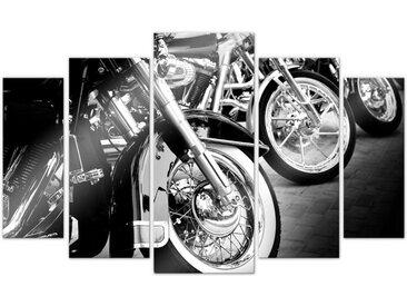 Wall-Art Mehrteilige Bilder Motorrad Biker Fan (5-teilig), (Set, 5 St.) Einheitsgröße bunt Bilderrahmen Wohnaccessoires