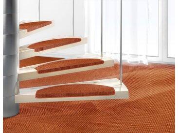 Dekowe Stufenmatte Mara S2, halbrund, 5 mm Höhe, 100% Sisal, große Farbauswahl, auch als Set mit 15 Stück erhältlich B/L: 25 cm x 65 cm, St. orange Stufenmatten Teppiche