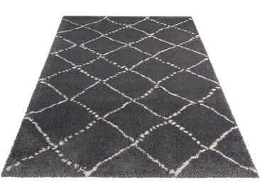 MINT RUGS Hochflor-Teppich Hash, rechteckig, 35 mm Höhe, Scandi Look, Wohnzimmer B/L: 200 cm x 290 cm, 1 St. grau Teppiche