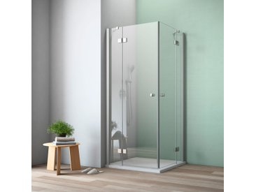 maw Eckdusche A-E300, ebenerdiger Einbau möglich ohne Antikalk-Versiegelung silberfarben Duschkabinen Duschen Bad Sanitär