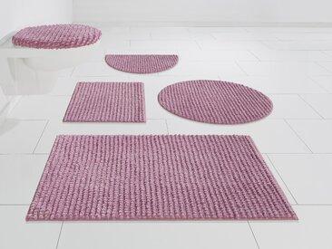 andas Badematte Renat, Höhe 15 mm, Badteppich, Badgarnitur, Badezimmerteppich in Pastell, waschbar, geeignet für Fußbodenheizung, schnell trocknend rechteckig (60 cm x 100 cm), 1 St. rot Einfarbige Badematten