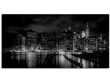 Artland Wandbild New York City I, Amerika, (1 St.) 150x75 cm, Leinwandbild schwarz Bilder Bilderrahmen Wohnaccessoires