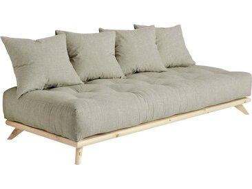 Karup Design Daybett Senza Daybed, mit Holzstruktur Leinenmix, Liegefläche B/L: 90 cm x 200 Betthöhe: 85 cm, kein Härtegrad, Futonmatratze grau Einzelbetten Betten