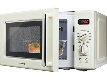 Privileg Mikrowelle 670559, Grill, 700 W, im Retro-Design, 8 Automatikprogramme, beige Einheitsgröße SOFORT LIEFERBARE Haushaltsgeräte