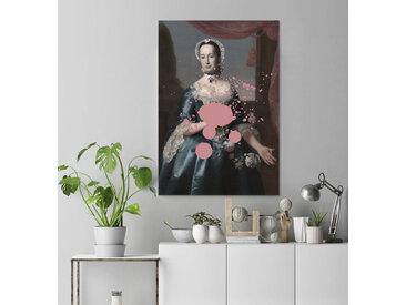 queence Acrylglasbild Frau 100x150 cm rosa Acrylglasbilder Bilder Bilderrahmen Wohnaccessoires