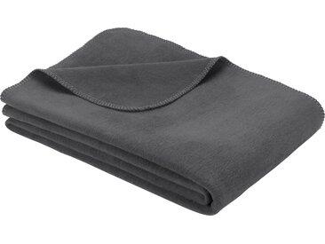 IBENA Wohndecke Bergamo, in vielen Farben erhältlich B/L: 150 cm x 200 grau Baumwolldecken Decken