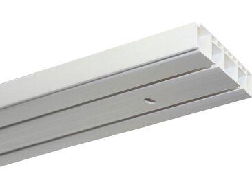 GARDINIA Gardinenschiene Vorhangschienen Set GK2, 2 läufig-läufig, Fixmaß L: 150 cm, läufig weiß Gardinenschienen Gardinen Vorhänge