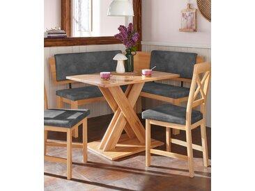 Eckbank Bremen Webstoff, 150cm grau Eckbänke Sitzbänke Stühle