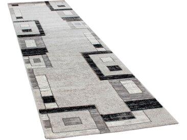 Paco Home Läufer Florenz 8529, rechteckig, 16 mm Höhe, Teppich-Läufer, gewebt, Designer Teppich mit Konturenschnitt B/L: 80 cm x 300 cm, 1 St. grau Teppichläufer Teppiche und Diele Flur