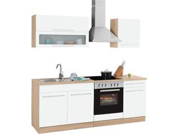HELD MÖBEL Küchenzeile Eton, ohne E-Geräte, Breite 210 cm B: weiß Küchenzeilen Geräte -blöcke Küchenmöbel