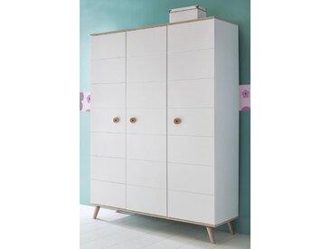 Wimex Kleiderschrank Billund B/H/T: 125 cm x 202 55 cm, 3 weiß Kinder Kinderschränke Kindermöbel