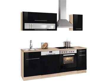 HELD MÖBEL Küchenzeile Eton, ohne E-Geräte, Breite 210 cm Einheitsgröße schwarz Küchenzeilen Geräte -blöcke Küchenmöbel Arbeitsmöbel-Sets