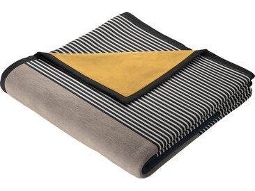 BIEDERLACK Wohndecke Block, mit schlichten Blöcken B/L: 150 cm x 200 grau Baumwolldecken Decken