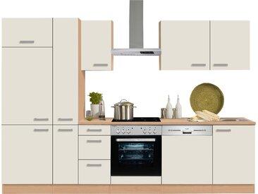 OPTIFIT Küchenzeile Odense, ohne E-Geräte, Breite 300 cm mit 28 mm starker Arbeitsplatte, Gratis Besteckeinsatz Einheitsgröße beige Küchenzeilen Geräte -blöcke Küchenmöbel Arbeitsmöbel-Sets