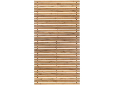 Badematte Level Holzmatte, Kleine Wolke, Höhe 8 mm, rutschhemmend beschichtet, fußbodenheizungsgeeignet 2, rechteckig 50x80 cm, mm beige Einfarbige Badematten
