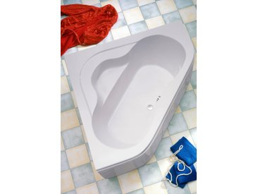 OTTOFOND Eckwanne Lucia, mit Wannenträger und Ablaufgarnitur Einheitsgröße weiß Badewannen Whirlpools Bad Sanitär