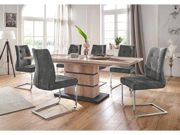 Homexperts Essgruppe Bonnie Einheitsgröße grau Essgruppen Tische Sitzmöbel-Sets