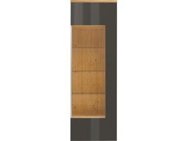 now by hülsta Vitrine time, mit Glasausschnitt, Höhe 216,3 cm B/H/T: 70 x 40 cm, Türanschlag rechts, 1 grau Standvitrinen Vitrinen