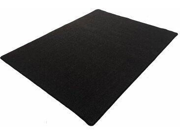 Living Line Sisalteppich Trumpf, rechteckig, 6 mm Höhe, Obermaterial: 100% Sisal, Wohnzimmer 6, 200x300 cm, schwarz Schlafzimmerteppiche Teppiche nach Räumen